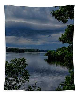 Storm Rolling Over Lake Wausau Tapestry