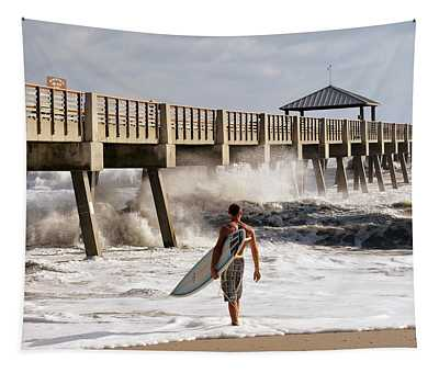 Storm Surfer Tapestry