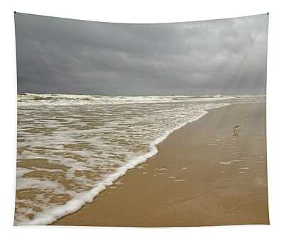 Stormy Day On Topsail Tapestry