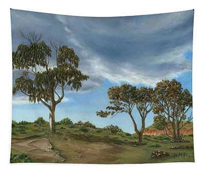 Stormy Eucalyptus Tapestry