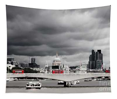 Stormy Skies Over London Tapestry