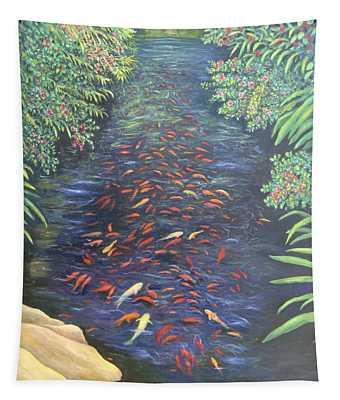 Stream Of Koi Tapestry