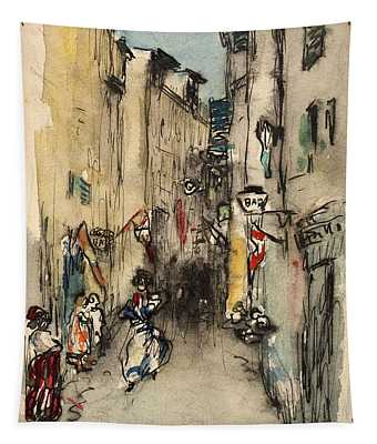Street In Marseille Tapestry
