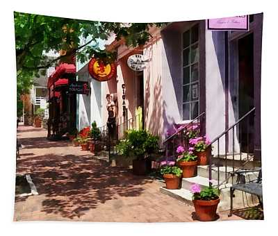 Alexandria Va - Street With Art Gallery And Tobacconist Tapestry
