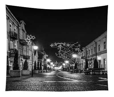 Streets Before Christmas Tapestry