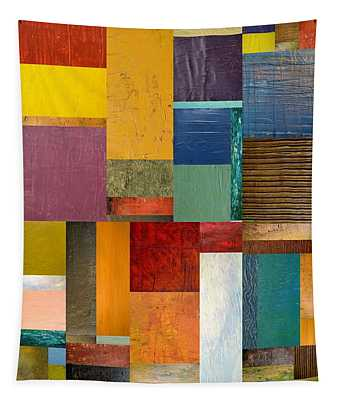 Strips And Pieces Ll Tapestry