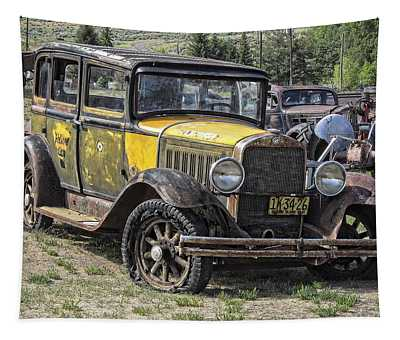 Studebaker Taxi Cab C. 1927 Tapestry