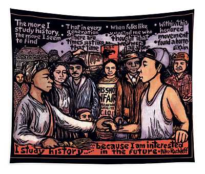 Study History Tapestry by Ricardo Levins Morales