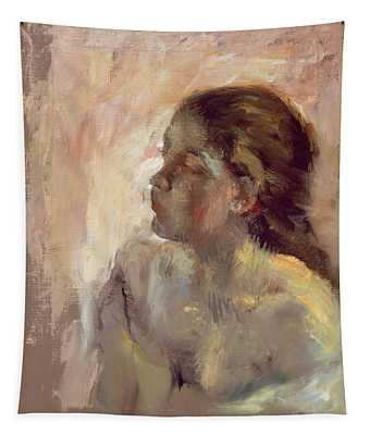 Study Of A Girls Head, Late 1870s Tapestry