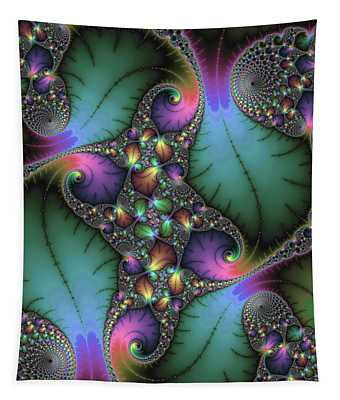 Tapestry featuring the digital art Stunning Mandelbrot Fractal by Matthias Hauser