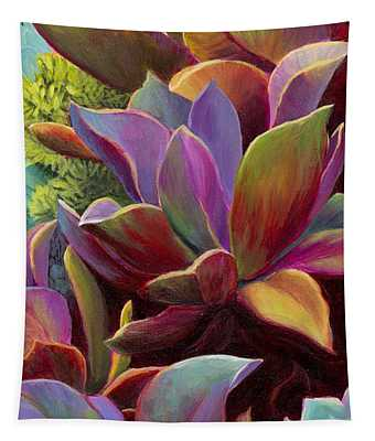 Tapestry featuring the painting Succulent Jewels by Sandi Whetzel