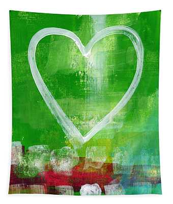 Sumer Love- Abstract Heart Painting Tapestry