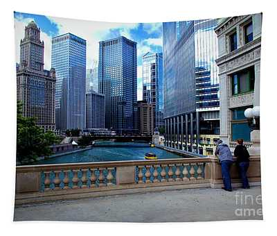 Summer Breeze On The Chicago River - Color Tapestry