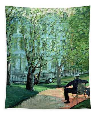 Summer Day Boston Public Garden Tapestry