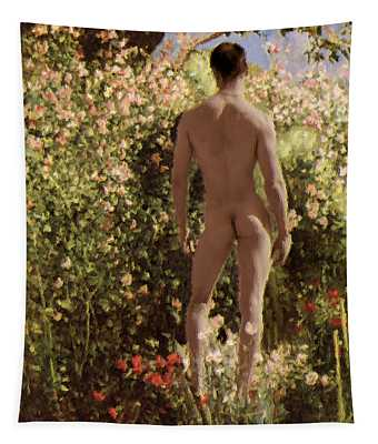 Summer Day In The Garden   Tapestry