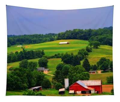 Summer Green In Berlin Ohio Tapestry
