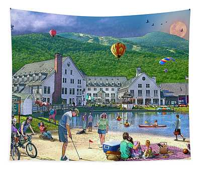 Summer In Waterville Valley Tapestry