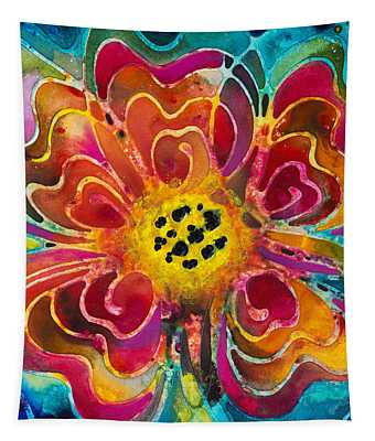 Colorful Flower Art - Summer Love By Sharon Cummings Tapestry