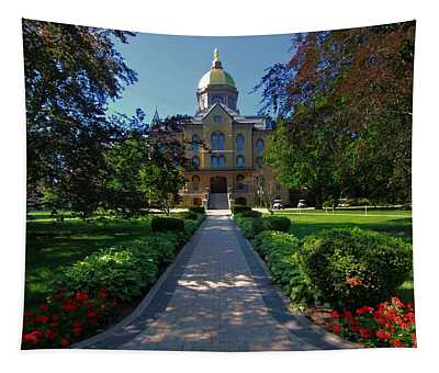 Summer On Notre Dame Campus Tapestry