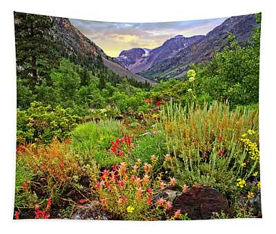 Summer Wildflowers In Lundy Canyon Tapestry