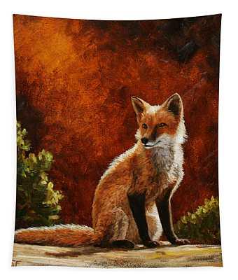 Sun Fox Tapestry