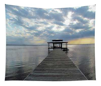 Sun Rays On The Lake Tapestry