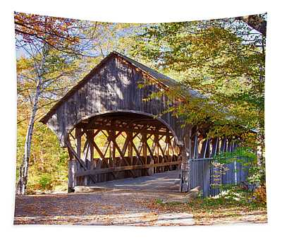 Sunday River Covered Bridge Tapestry