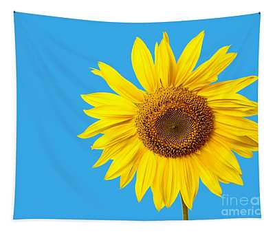 Sunflower Blue Sky Tapestry