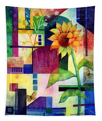 Sunflower Collage 2 Tapestry