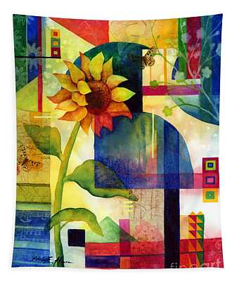 Sunflower Collage Tapestry