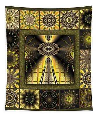 Sunflower Moon Redux Tapestry