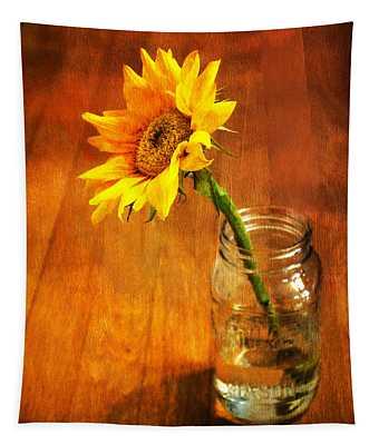 Sunflower Still Life Tapestry