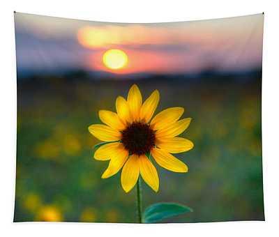 Sunflower Sunset Tapestry