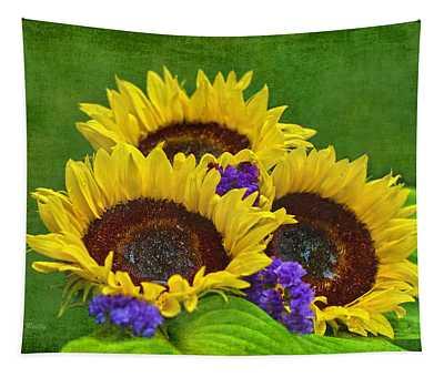 Sunflower Trio Tapestry