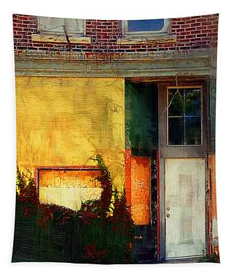 Sunlight Catching Yellow Wall Tapestry