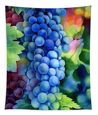 Sunlit Grapes Tapestry