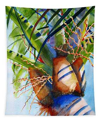 Sunlit Palm Tapestry