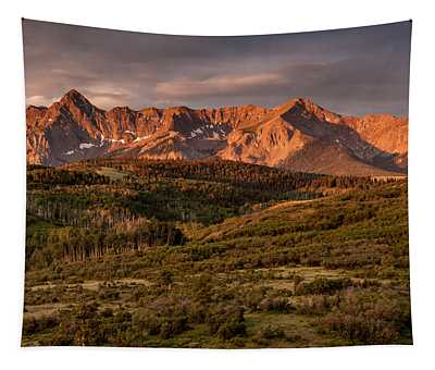 Sunrise At Dallas Divide Tapestry