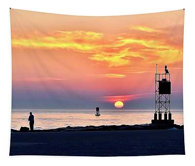 Sunrise At Indian River Inlet Tapestry