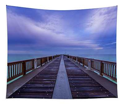 Sunrise At The Panama City Beach Pier Tapestry