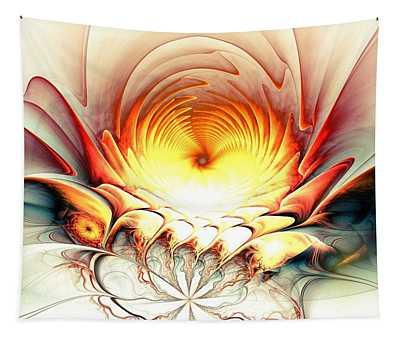 Tapestry featuring the digital art Sunrise In Neverland by Anastasiya Malakhova