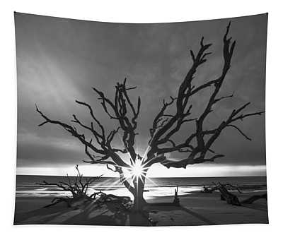 Sunrise Jewel In Black And White Tapestry