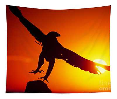 Sunrise Liftoff Golden Eagle Threatened Species Tapestry
