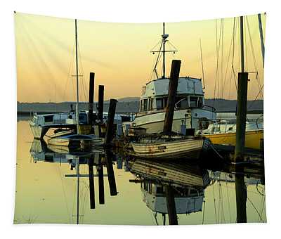 Sunrise On The Petaluma River Tapestry
