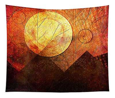 Sunrise Over Mountain Range Tapestry
