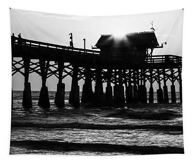 Sunrise Over Pier Tapestry