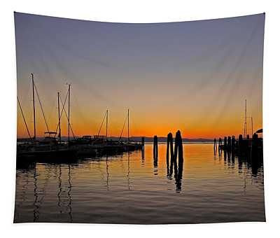 Sunset At Burlington Bay - Vermont Tapestry