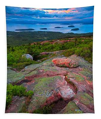 Sunset At Cadillac Mountain Tapestry