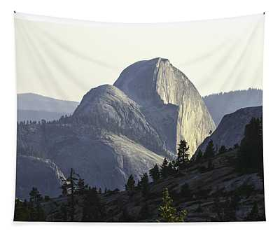 Sunset At Half Dome From Olmsted Pt Tapestry