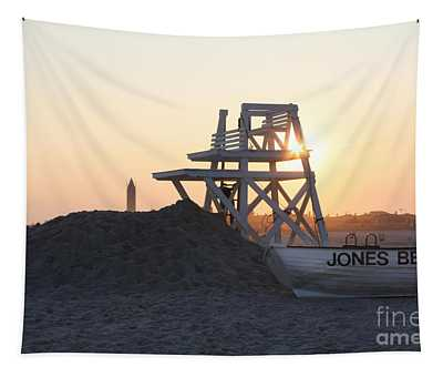 Sunset At Jones Beach Tapestry